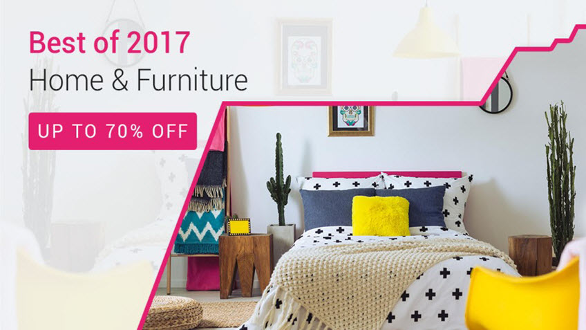 Up to 70% OFF on Home and Furniture