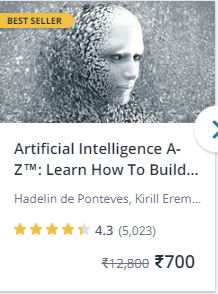 artificial intelligence course udemy