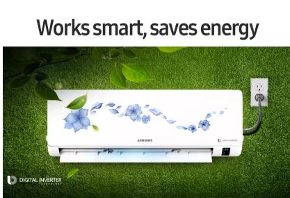 Samsung 1 Ton 3 Star BEE Rating Inverter AC